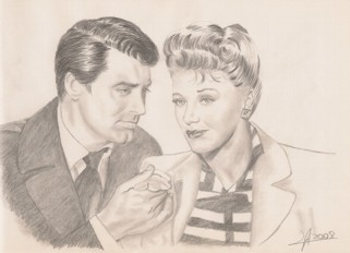 Ginga Rogers y Cary Grant