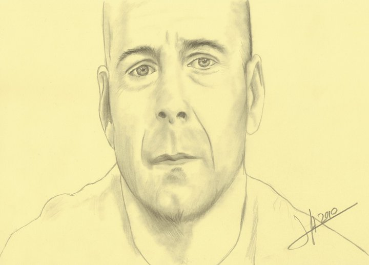 dibujo Bruce Willis