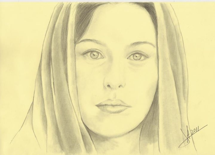 Retrato a lápiz, Dibujos